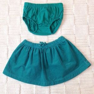 Carters Corduroy Skirt and Diaper Cover Set